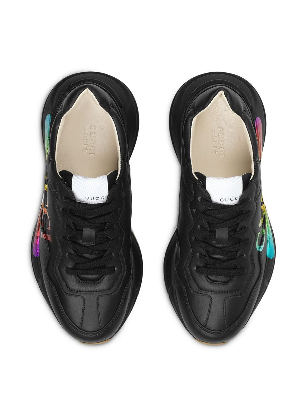 Rhyton leather sneaker with Gucci logo