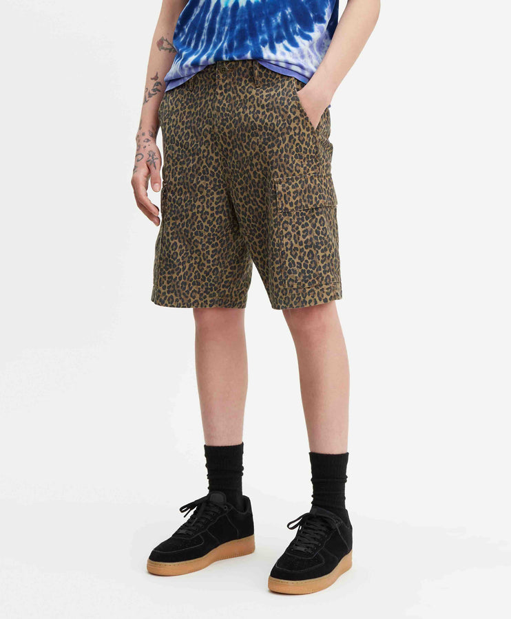 HIBALL CARGO SHORTS PATCHY CHEETAH BA