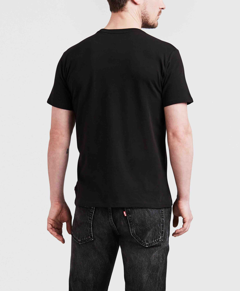 GRAPHIC SETIN NECK 2 LEVIS LOGO BLACK