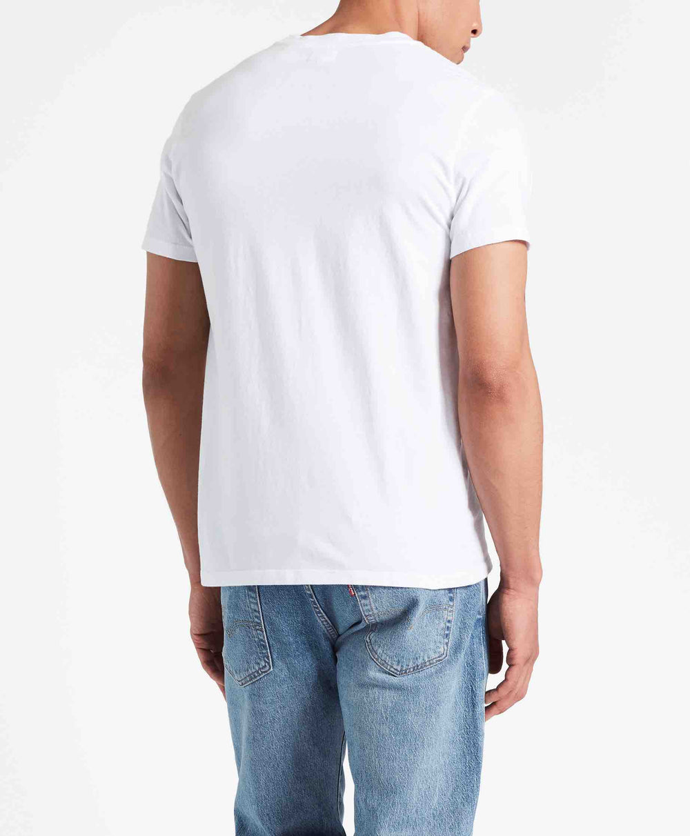 SS ORIGINAL HM TEE COTTON + PATCH WHITE