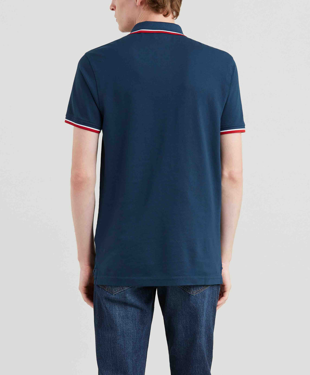 SS MODERN HM POLO HM PATCH DRESS BLUES