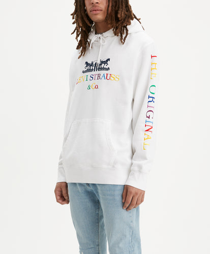 GRAPHIC PO HOODIE B 90S LOGO TEXT MINER