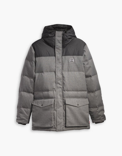 DOWN PUFFER PARKA DARK HEATHER GREY2