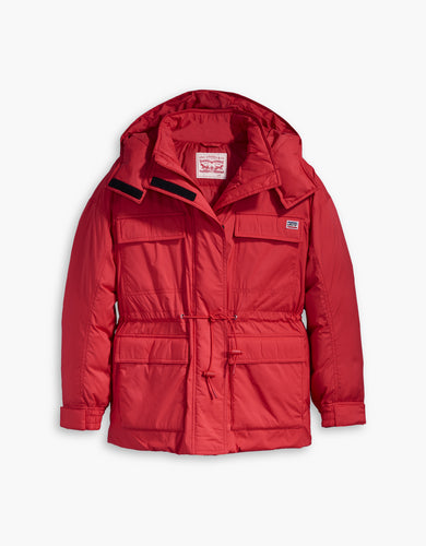 FELICE DOWN JACKET BRILLIANT RED