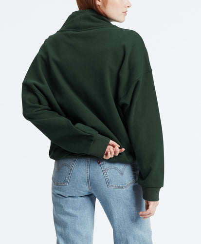 SADIE FUNNEL NECK 90S LOGO TEXT FUNNEL