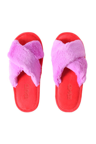 Womens Slippers (Raspberry Bubble)