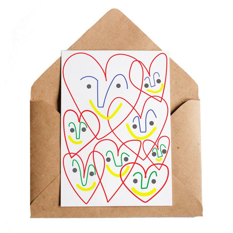Happy Hearts Greeting Card
