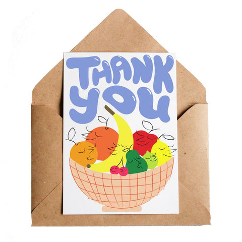 Thank You Fruit Greeting Card