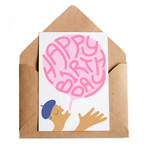 Birthday Bubblegum Greeting Card
