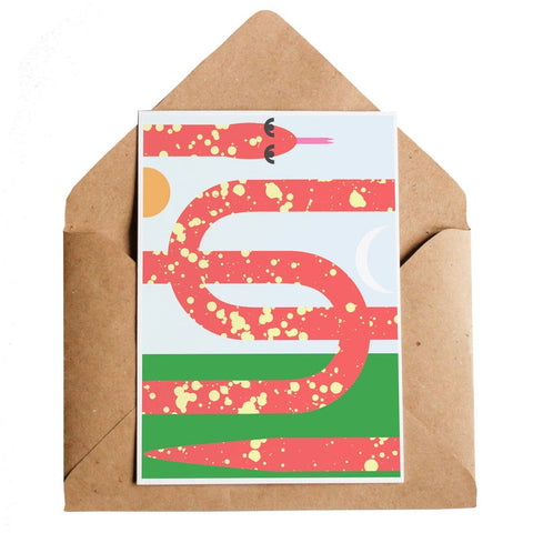 Daybreak Snake Greeting Card