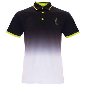 "AGW ""The Shaun"" Black/White Fade Polo"