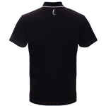 "AGW ""Black Bird"" Solid Black/Silver Polo"