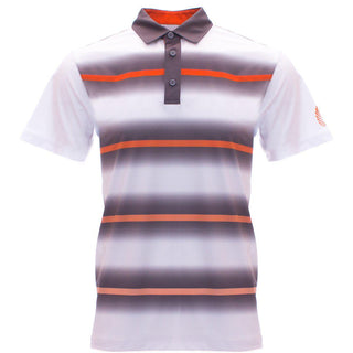 "AGW ""40 Acres"" Orange/Gray/White Polo"