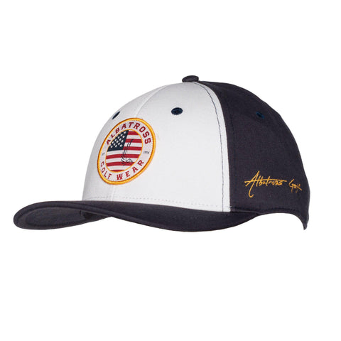 "AGW ""Star Spangled"" USA White/Blue Patch - Cotton Twill Snapback"