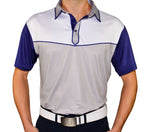 "AGW ""Palmer"" Gray and Blue Polo (Small Batch-Limited Supply)"