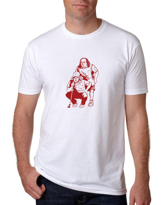"AGW ""All About the Benjamin"" White Tee Shirt"