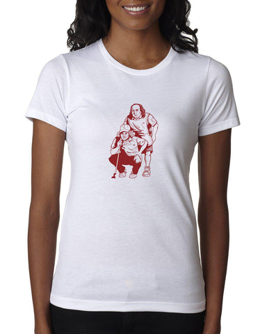 "AGW ""All About the Benjamin"" Ladies White Tee Shirt"