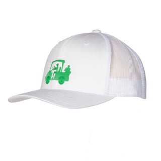 "AGW ""Chillin with JD Green "" White TPU Snapback Trucker Hat"