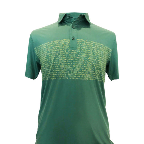 "AGW ""Feed the Trees"" Limited Edition Masters Green/Yellow Polo"
