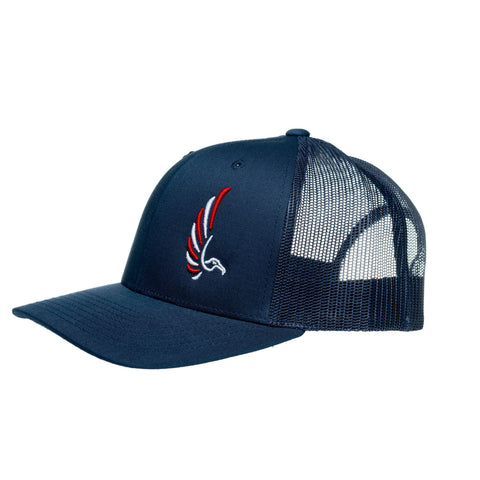 "AGW ""Ground Support"" Navy Red/White Albatross Embroidered Snapback Trucker"
