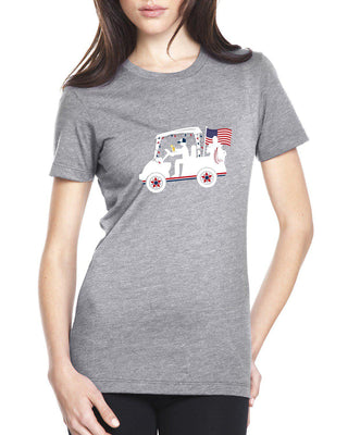 "AGW ""The Parade"" Ladies Gray Tee Shirt"