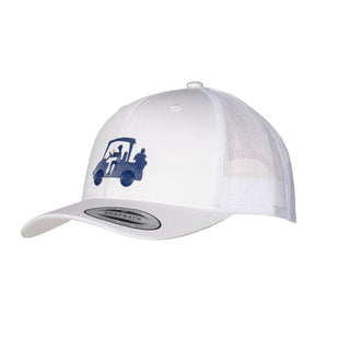 "AGW ""Chillin with JD Blue "" White TPU Snapback Trucker Hat"