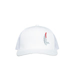 "AGW ""Bandolero"" White Embroidered Snapback Trucker Hat"