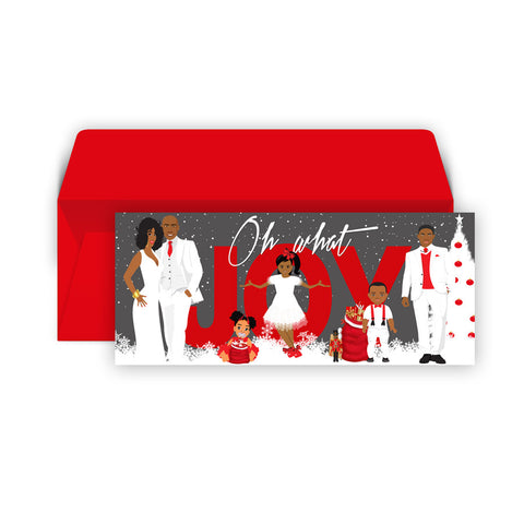 Oh What Joy ⎪African American Christmas Greeting Cards Boxed Set