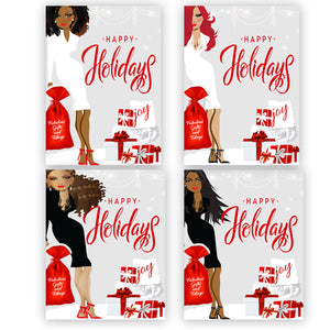 Assorted Chic Christmas Pack⎪African American Christmas Greeting Card Boxed Set