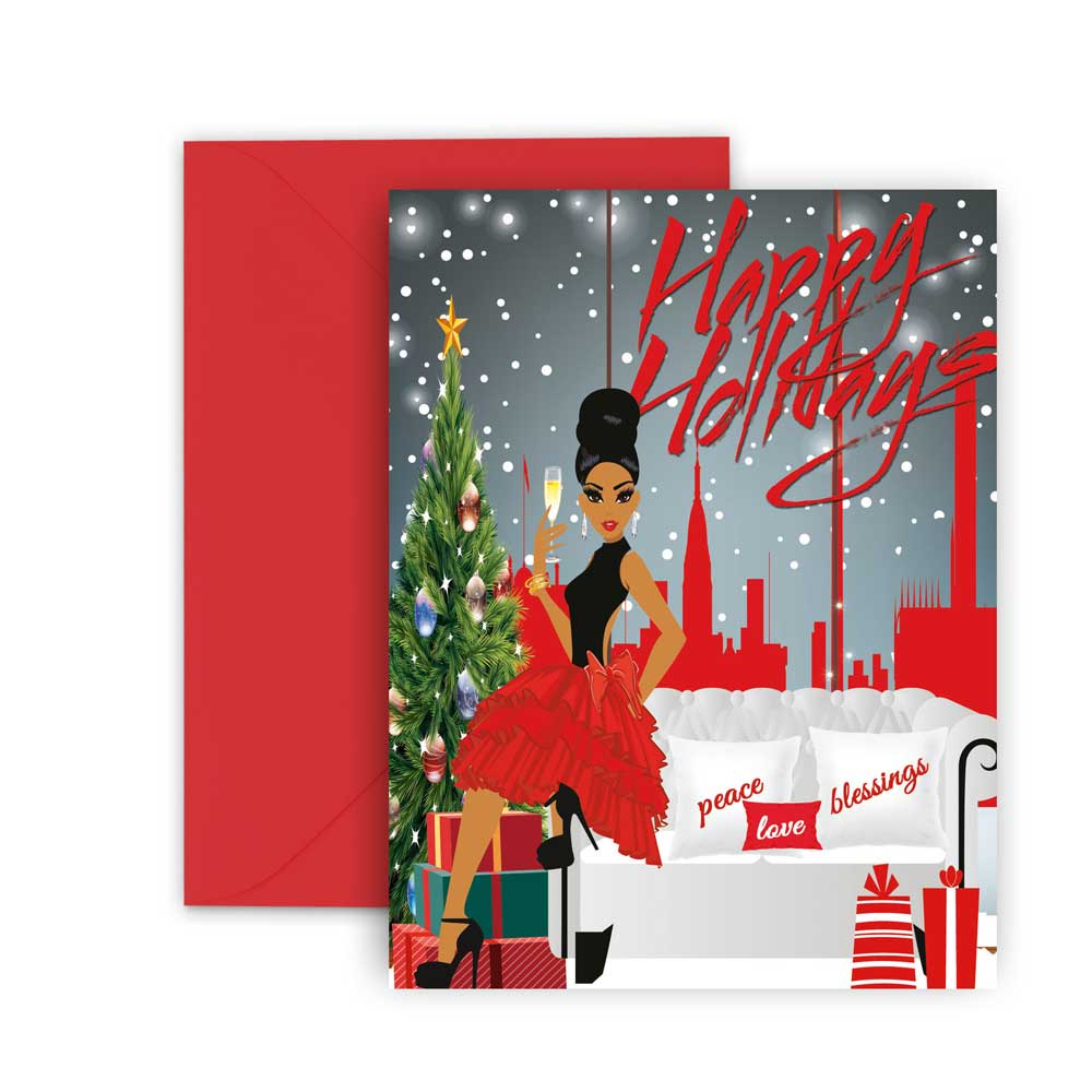 Happy Holidays⎪African American Greeting Cards Boxed Set