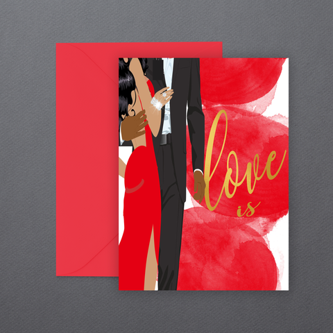 Love is ⎪African American Greeting Cards