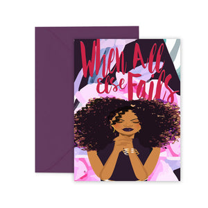 When All Else Fails⎪ African American Greeting Cards