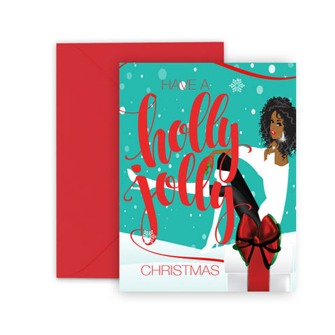 Holly Jolly Christmas⎪African American Greeting Cards Boxed Set