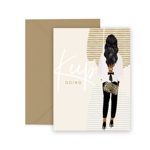Keep Going⎪ African American Greeting Cards