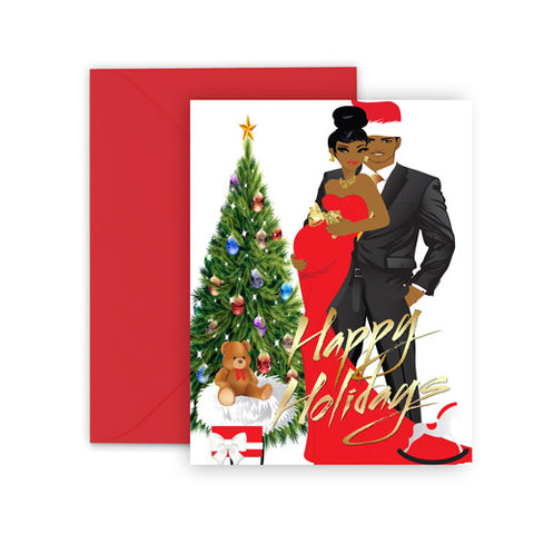 This Christmas⎪African American Greeting Cards Boxed Set