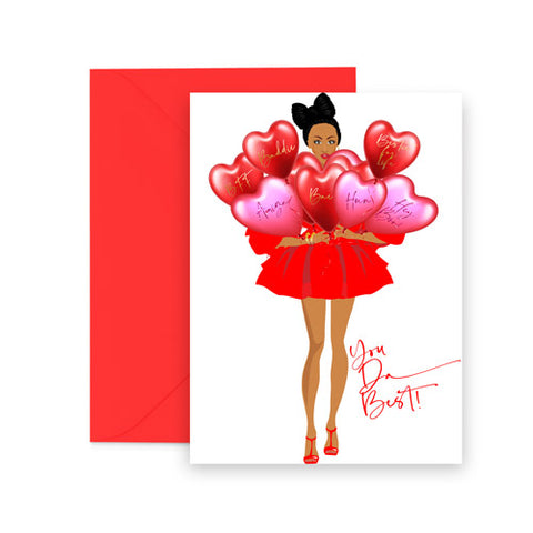 My Favorite Gal! African American Valentine Day Card