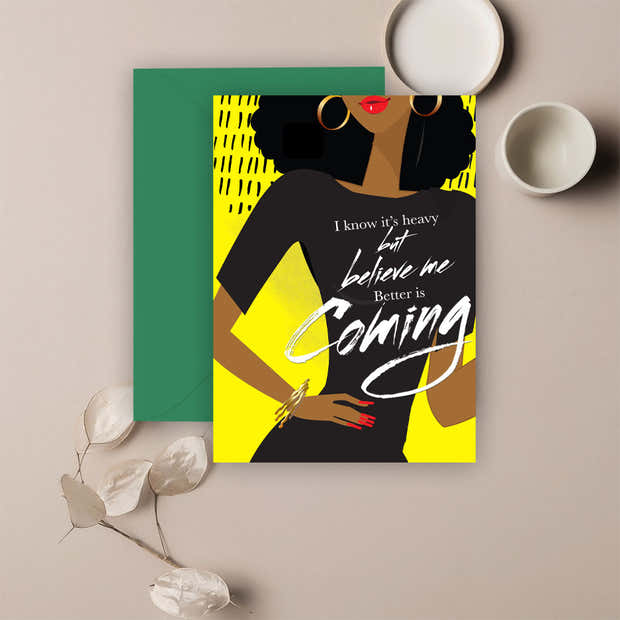 Better Is Coming⎪ African American Greeting Cards 1