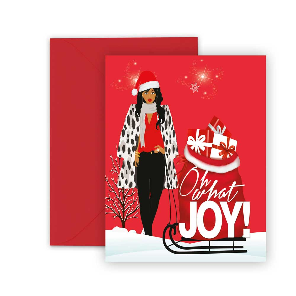 Oh What Joy⎪African American Greeting Cards Boxed Set