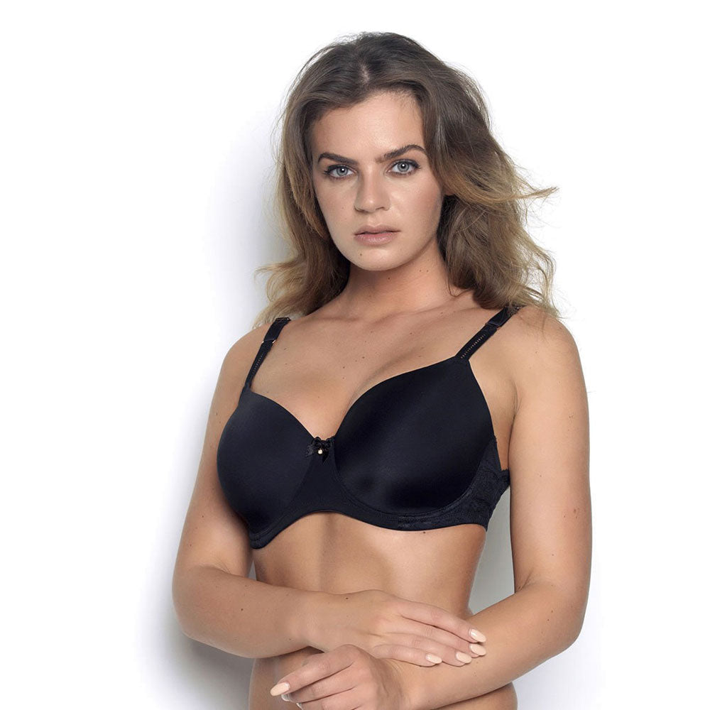 Faro Lace T-shirt Black Bra