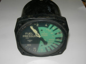 "Gauge, Fuel Pressure - 3 1/8"" - Twin Engine - Garwin"