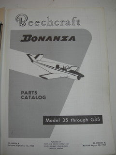 Manual, Beechcraft - Bonanza - 35 thru G35 - Parts