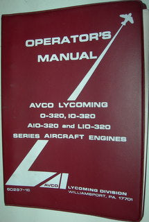 Manual, Lycoming - 320 Series - Operator's