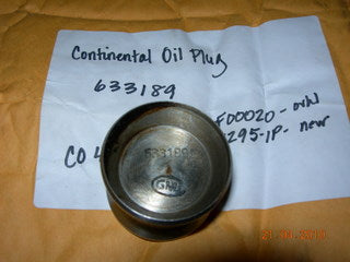 Plug, Crankshaft - Propeller Oil Transfer