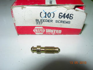 Screw, Bleeder Brake
