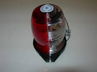 Beacon, Strobe Flash Tube - 12 V - Red/Clear Lens - Whelen