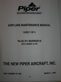 Manual, Piper - Warrior III PA28-161 - Maintenance