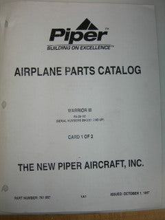 Manual, Piper - PA28-161 - Warrior III - Parts