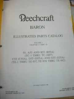 Manual, Beechcraft - Baron 55/58 - Two Volumes - Parts