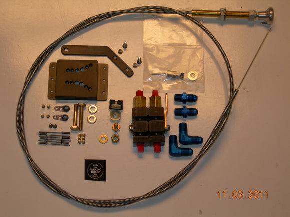AirWard's Van's RV-10 Parking Brake Kit - Less PVPV-D Valve - with Cable
