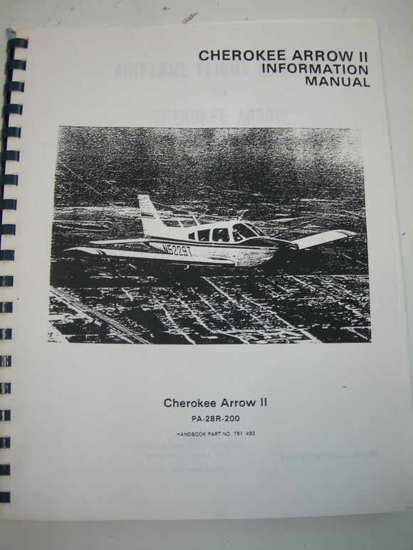 Manual, Piper - PA28R-200 - Information